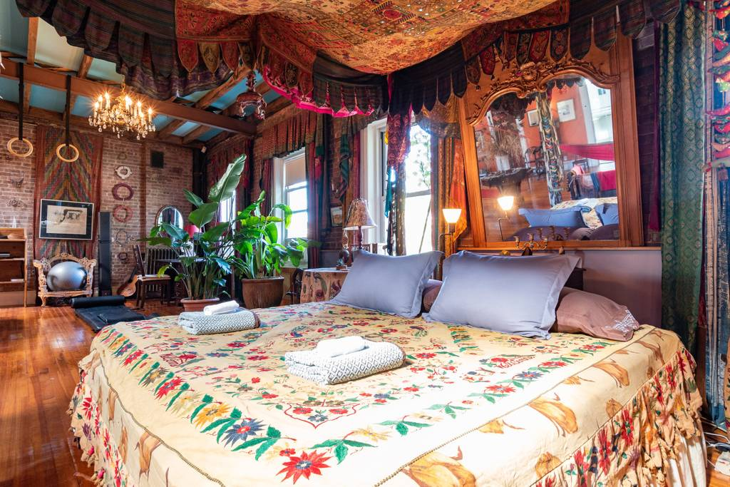 upscale bohemian new york home used for photo shoots