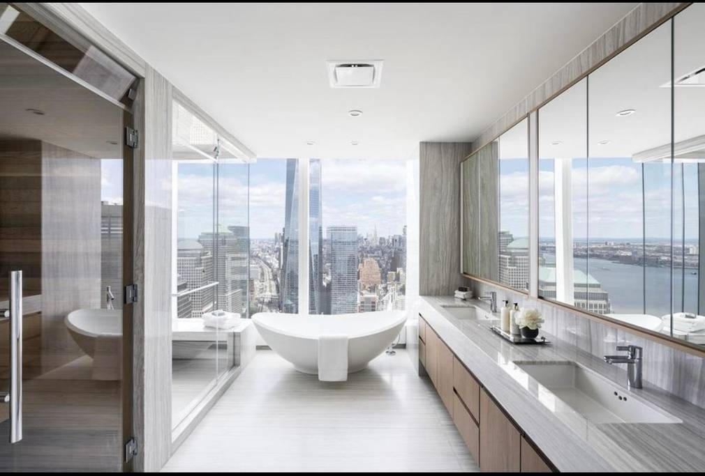 massive upscale new york apartment with gym and sauna