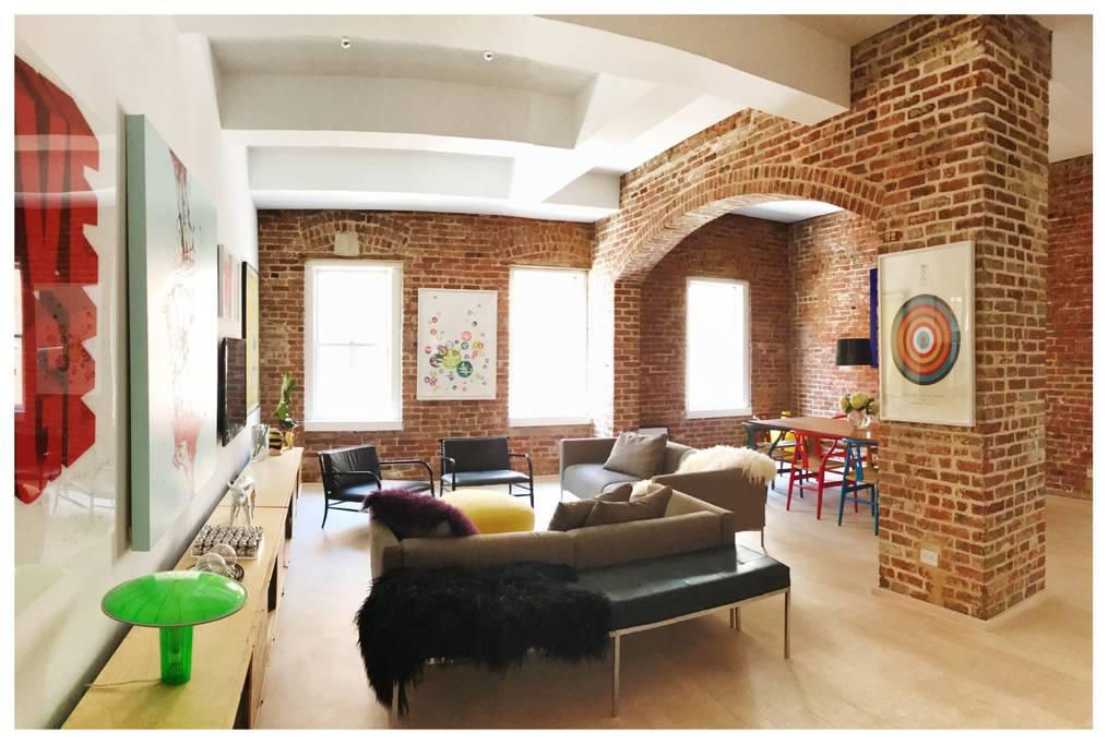 soho loft with exposed brick walls