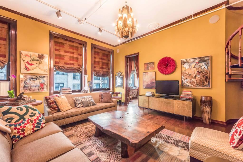 artistic manhattan airbnb home