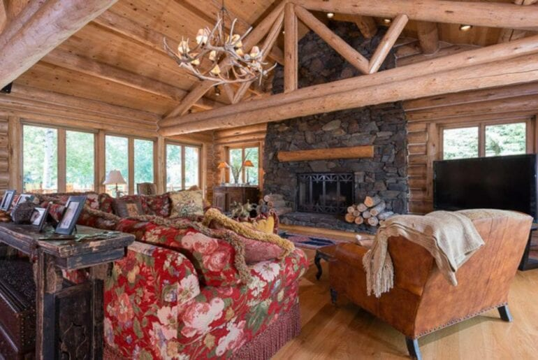 luxury airbnb log home near sun valley