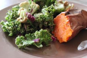 Kale and Sweet Potato