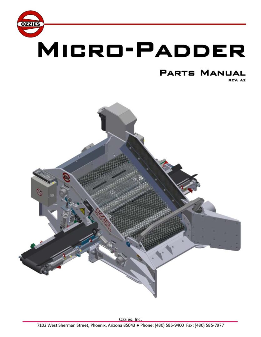 Micro Parts Manual REV A2_CoverPage