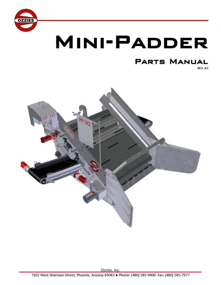 Mini Parts Manual REV A3 231220_CoverPage