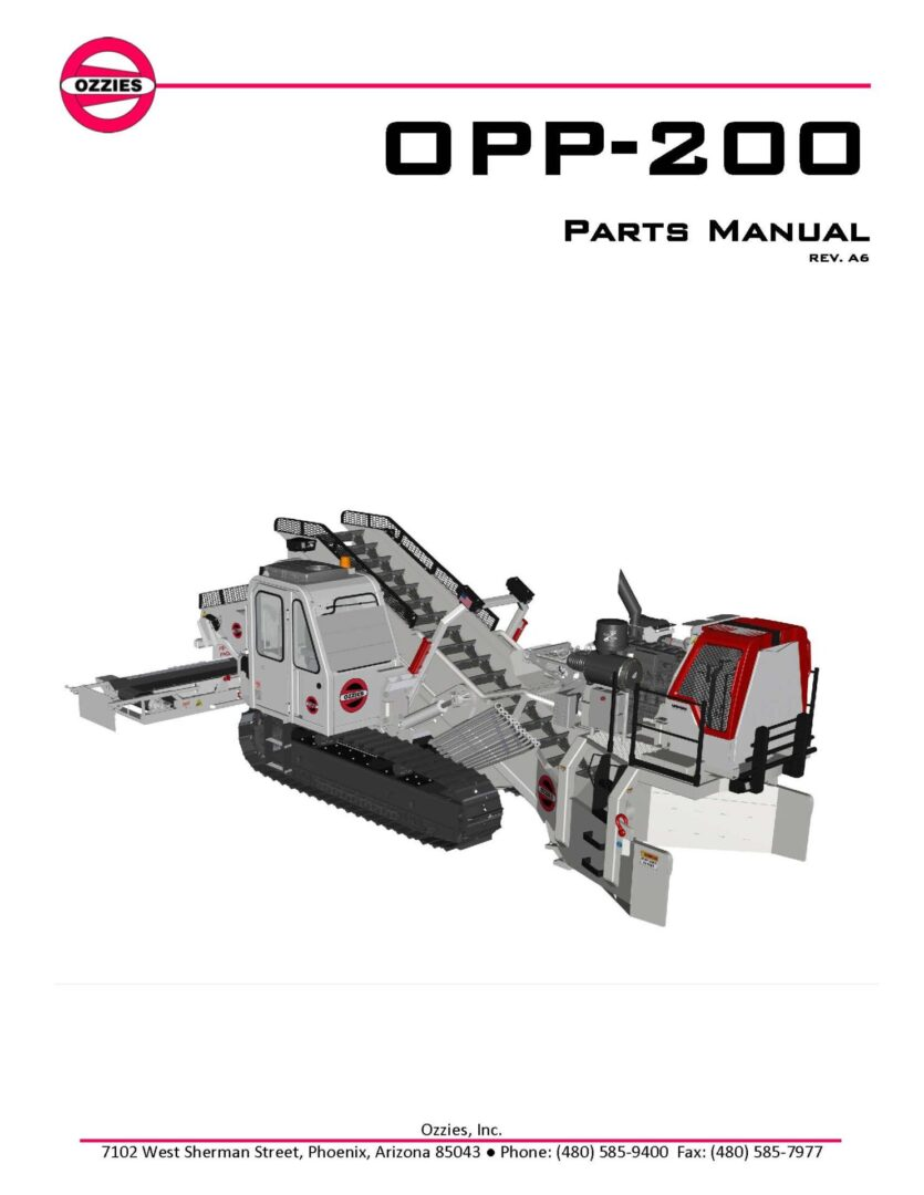 OPP-200 Parts Manual Rev A6_CoverPage