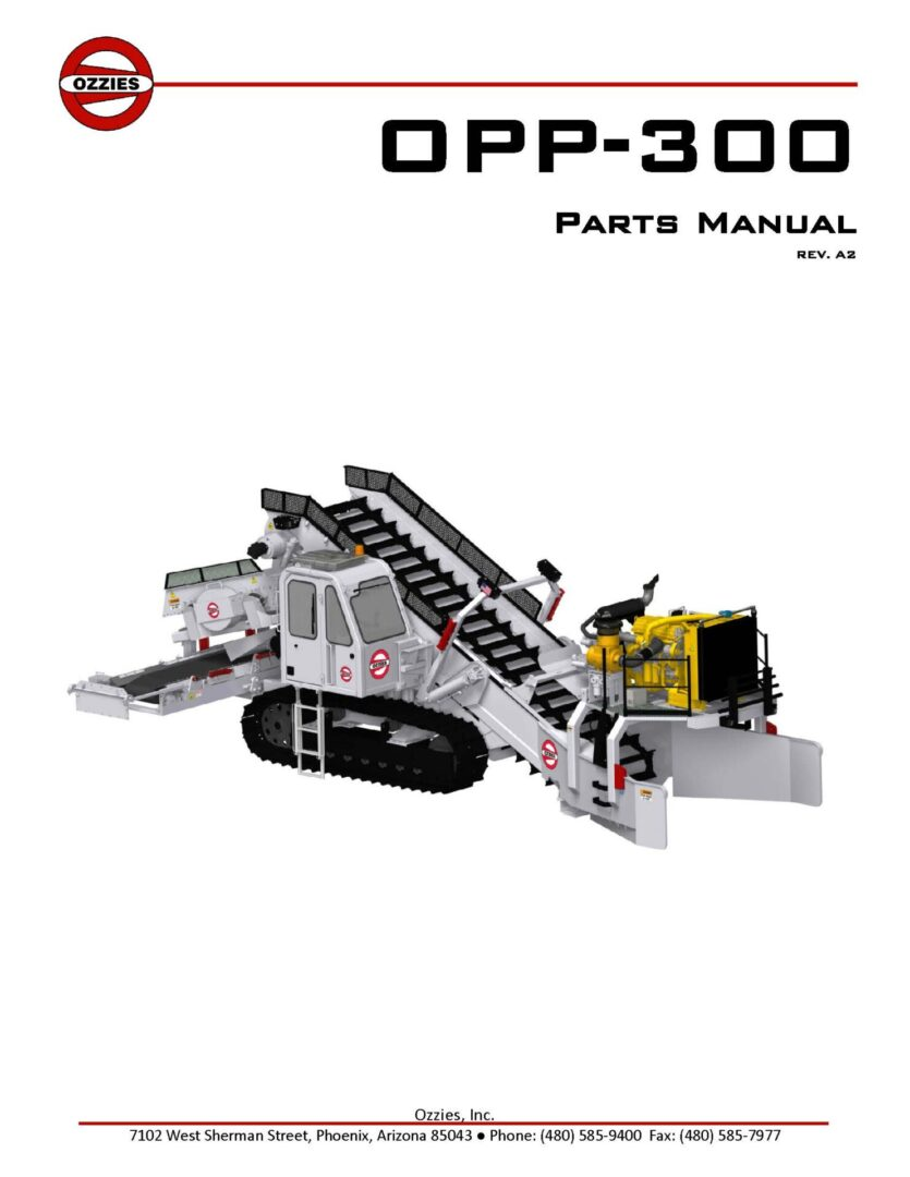OPP-300 Parts Manual Rev A2 _CoverPage