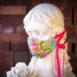 Silk Hydrangea Thai Silk Face Mask Ribbon Ties (1)