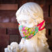 Silk Hydrangea Thai Silk Face Mask Ribbon Ties (2)