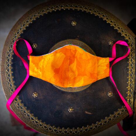 Silk Hydrangea Thai Silk Face Mask Ribbon Ties (4)