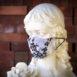 Silk Silver Blossoms Bridal Face Mask (1)