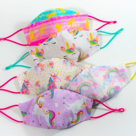 Childrens Mask Unicorns Rainbows (3)