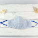 Classic Blue Linen Fitted Sculpted Cotton Face Mask (2)