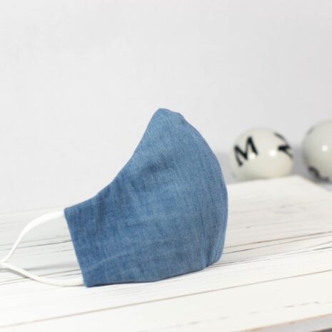 Classic Denim Sculpted Fitted Cotton Face Mask (1)