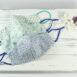 Classic Sculpted Cotton Face Mask Trio in Blue Floral Multi, Green Floral Multi, Aqua Dot Multi
