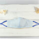 Cote Azure Embroidered Cotton Shirting Sculpted Fitted Face Mask (1)