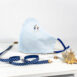 Cote Azure Embroidered Cotton Shirting Sculpted Fitted Face Mask (3)