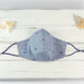 Newport Standard Sailing Seas Blue Chambray Cotton Face Mask Navy (2)
