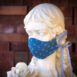 Ocean State Newport Anchors Blue Denim Chambray Cotton Sculpted Fitted Face Mask (7)