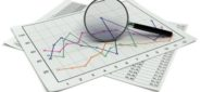 magnifying glass, stock, charts, financial