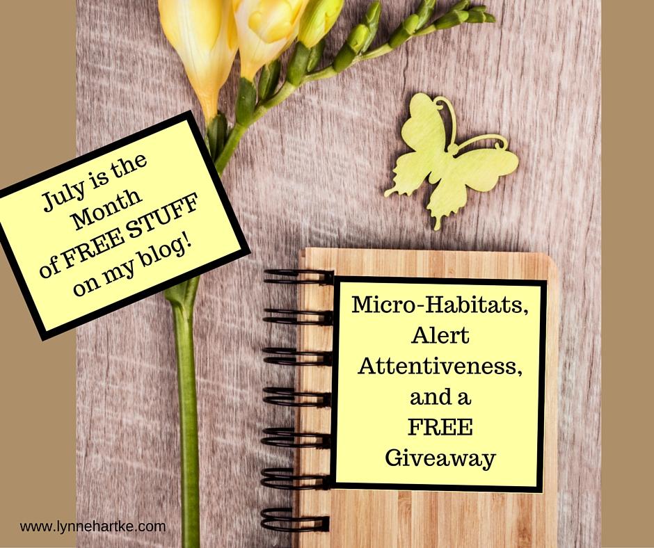Micro-Habitats, Alert Attentiveness, and a free Giveaway