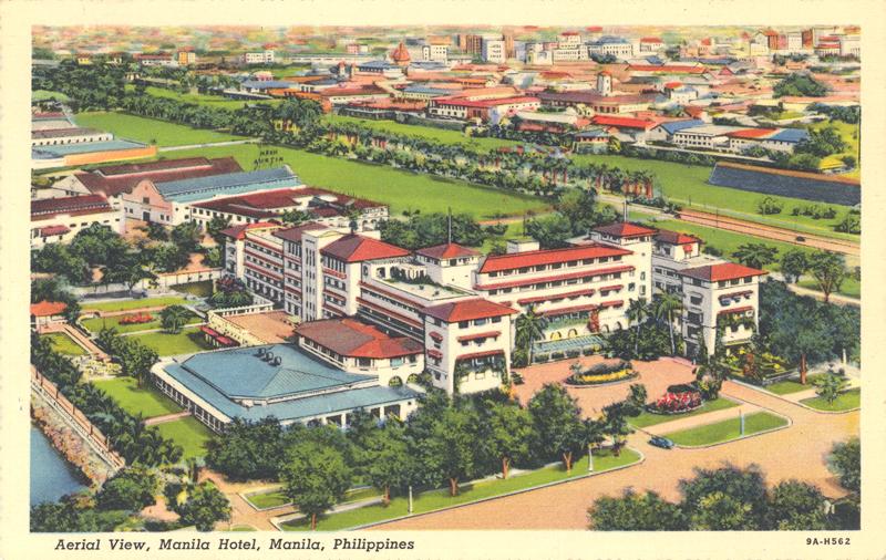 Daily Life - Manila Hotel Aerial View