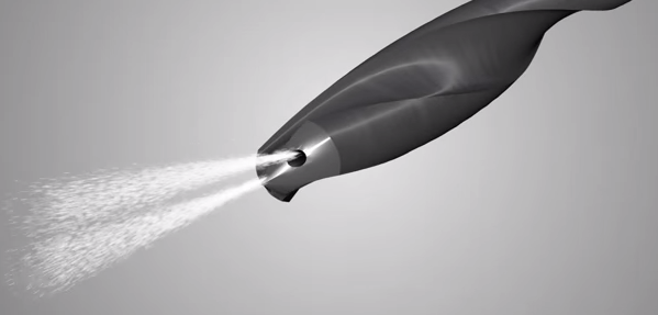 Solid CO2 Particles Spraying from Drill Flutes for Dry Machining