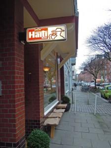 Outside of small Cafe, Hamburg Germany