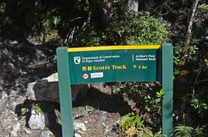 Scott's Track Sign
