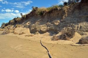 Sandy cliffs