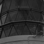 LIghthouse lens closeup - Black and White