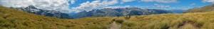 grass field atop the mountain