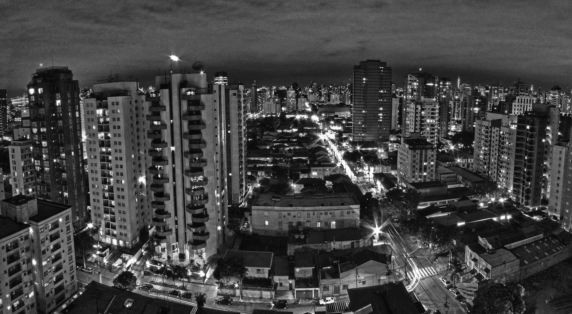 Nighttime City Panorama, Sao Paulo, Brazil