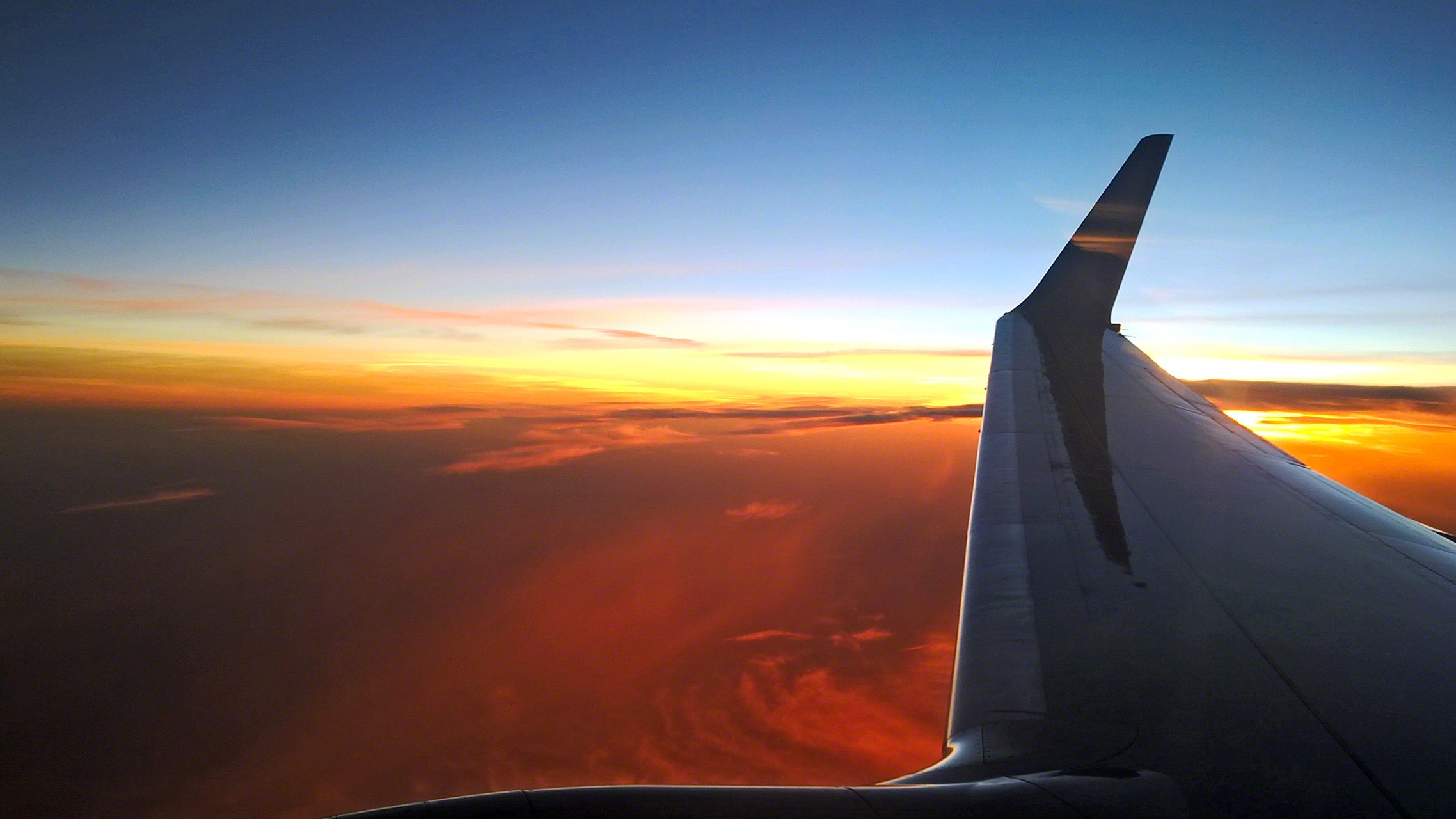 Sunset Photo from the PLANE