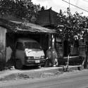 Minivan in the Garage