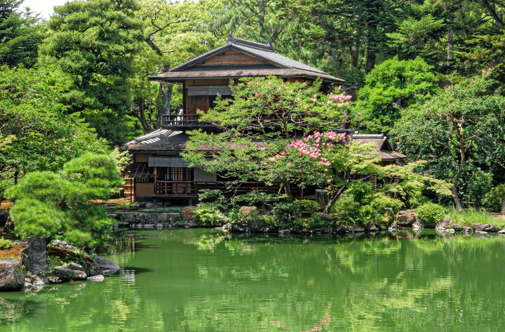 Wooden house, Kyoto, Japan