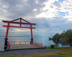 Torii by Lake Biwa