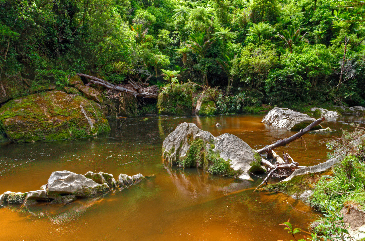 River with jagged rocks