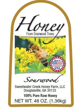 3lb Sourwood Label Picture
