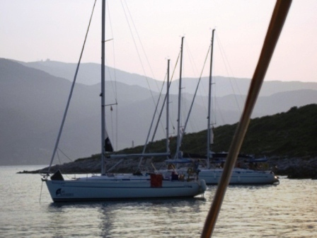 Boats at anchor
