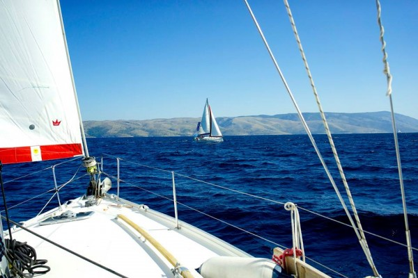 Foredeck sailing