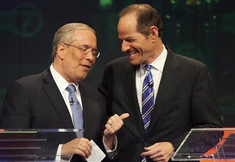 POLL: SPITZER TUMBLES INTO TIE FOR NYC COMPTROLLER