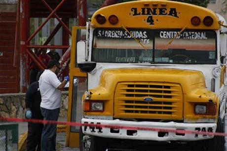 MEXICO BUS DRIVERS IDLE AFTER 'REVENGE' KILLINGS