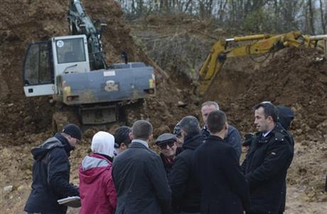 UN tribunal's president visits Bosnian mass grave