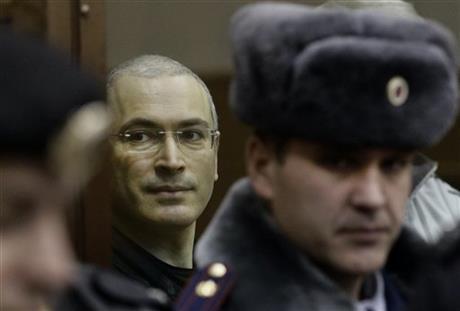 RUSSIAN OLIGARCH MIKHAIL KHODORKOVSKY A FREE MAN