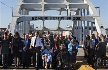 Bloody Sunday 50th anniversary: Thousands crowd Selma bridge