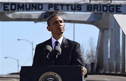 Selma civil rights milestone marked by first black president