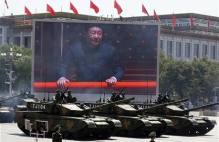 China shows off rising power in marking WWII defeat of Japan