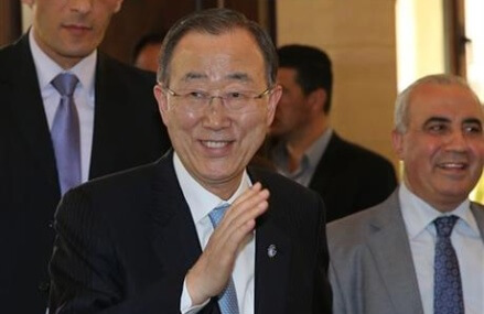 UN chief visits Palestinian camp destroyed in 2007 fighting