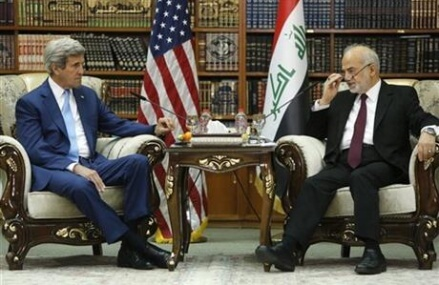 Kerry backs Iraqi leader, no planned increase in US troops