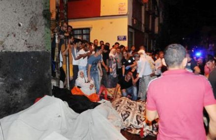 Young suicide bomber attacks Turkey wedding party; 51 dead